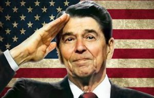 Reagan.Saluting